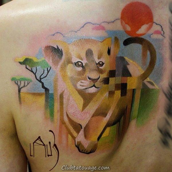 Pixel & amp tatouage; Glitch 7
