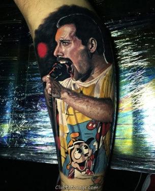 tatouage réaliste de Freddie Mercury 3