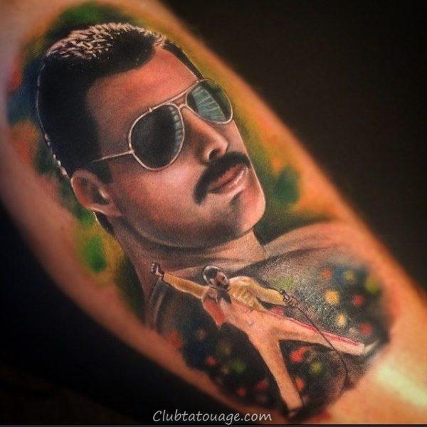 tatouage réaliste de Freddie Mercury 4