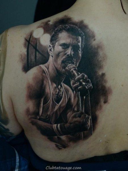 tatouage réaliste de Freddie Mercury 5