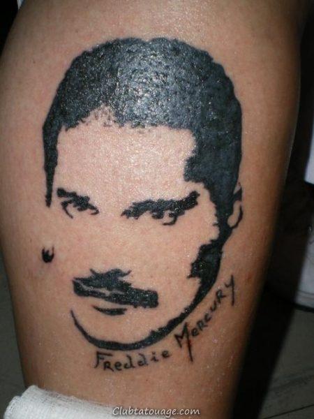 Tattoo Réaliste Freddie Mercury 8