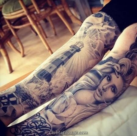 Tatuagem-Sleeve-para-Perna-de-Mulheres-7