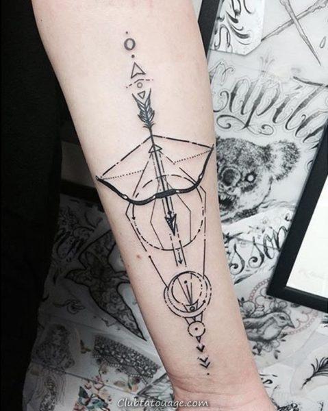Bow and Arrow Tattoo 8