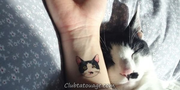 Cats Tattoo Minimaliste 6