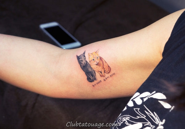 Cats Tattoo Minimaliste 8