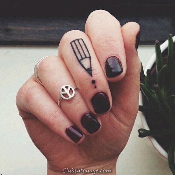 Tatouage sur Finger 2