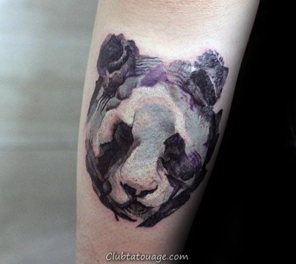 Résumé Panda Aquarelle Hommes Petits Forearm Tattoos