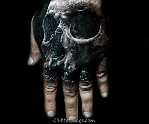 Hand Tattoo Skull avec Amazing 3d design Pour les hommes
