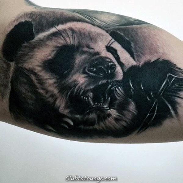 biceps Panda Bear Guys Tattoo Ideas