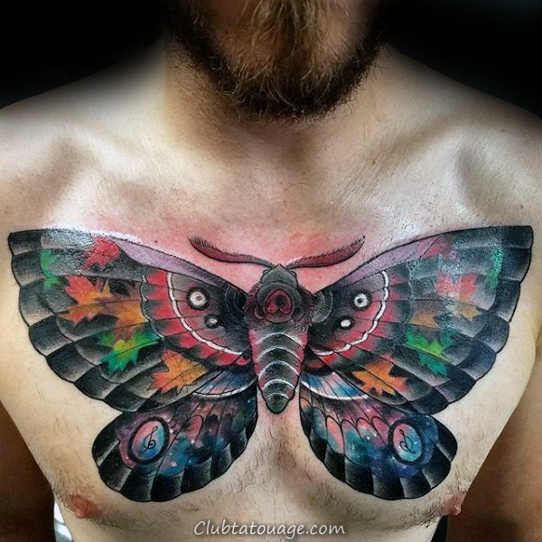 Compass Avec Tattoo Sleeve Carte Mens Moth Forearm
