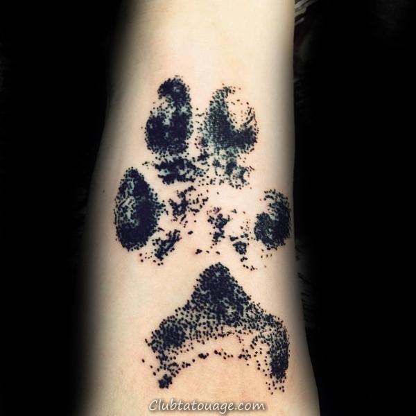 50 Loup Paw Tattoo Designs For Men - Idées d'encre d'animaux
