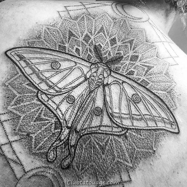 width Double Crânes Mens Moth Forearm Tattoo