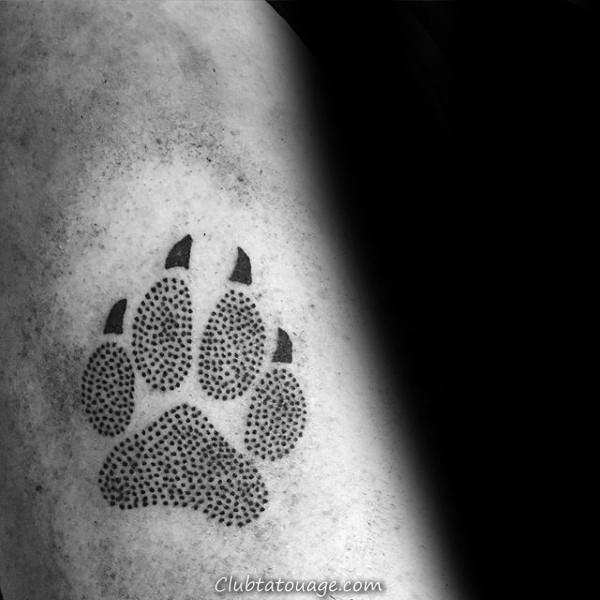 Double Loup Paws Hommes supérieurs poitrine Tatouages