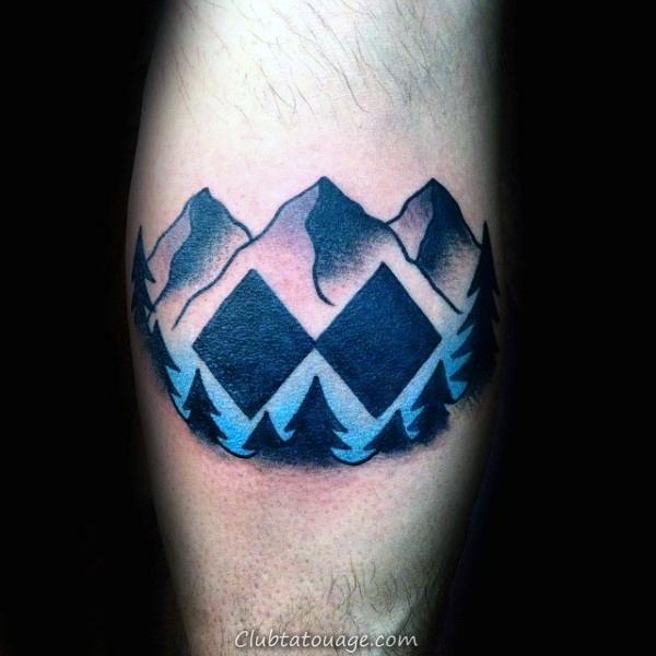 Double Black Diamond Ski Hommes Inner Arm Tattoos
