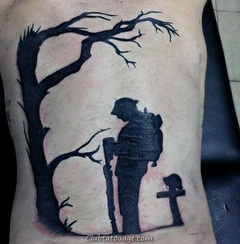 width Portraits de Famille Mémorial Hommes Arm Tattoos avec la conception réaliste