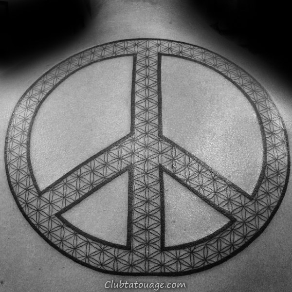 Hand Giving Peace Sign Drapeau américain Mens Chest Tatouages