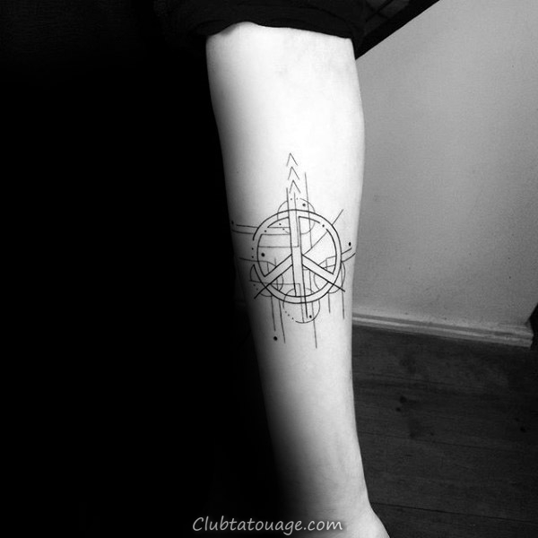 main tenant Signe de paix Hommes Leg Tattoo Ideas