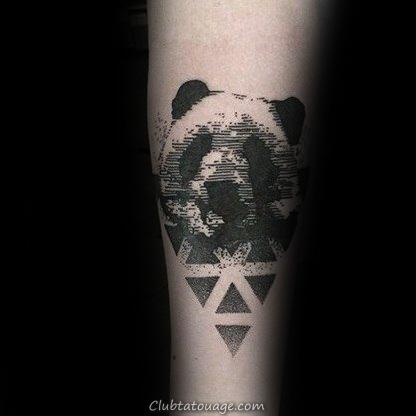 100 Panda Ours de Tatouage Pour hommes - Idées Manly encre