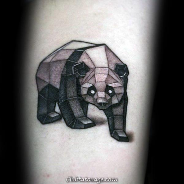 géométriques Panda Petit Guys Forearm tattoo Ideas