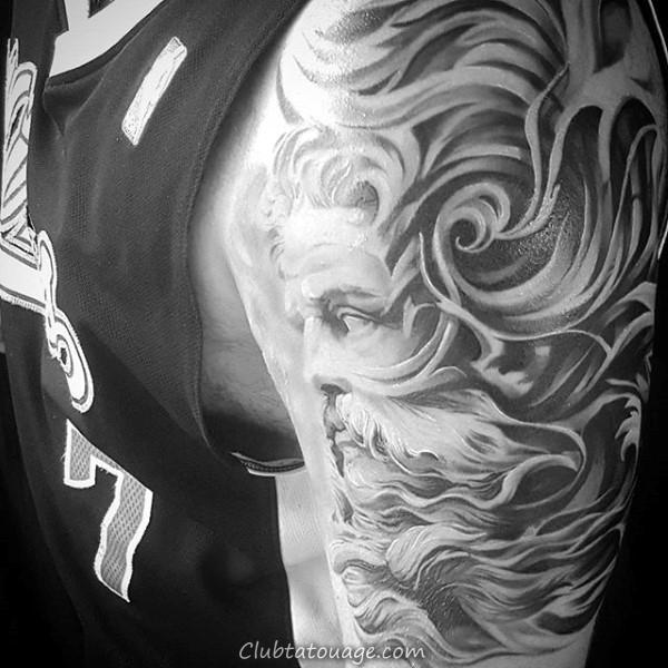 width Guys Plein manches Filigrane Tattoo Design Crâne Avec
