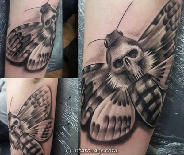Hexagon géométriques Guys Moth Upper Chest Tatto Idées