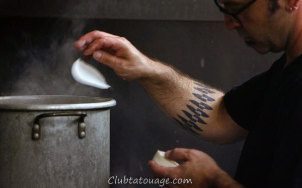 Inner Forearm Masculine Couteau de chef Tattoos For Men
