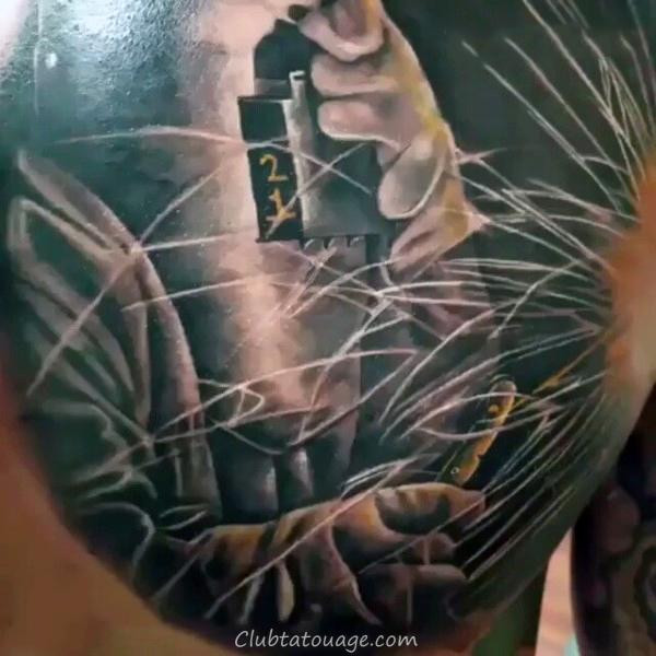 Les gars de soudure en noir et Grey Shaded Tattoo Deson Sur Arm