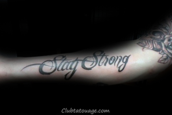 Guys Stay Strong Force Design Tattoo Inspiration