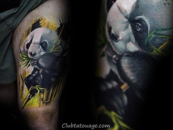 japonais Roaring Panda Guys Inner Forearm Tattoo Ideas