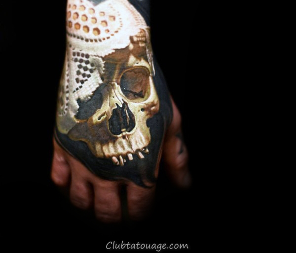 Skull Mens Main Tattoo Insane Avec Realistic 3d Design