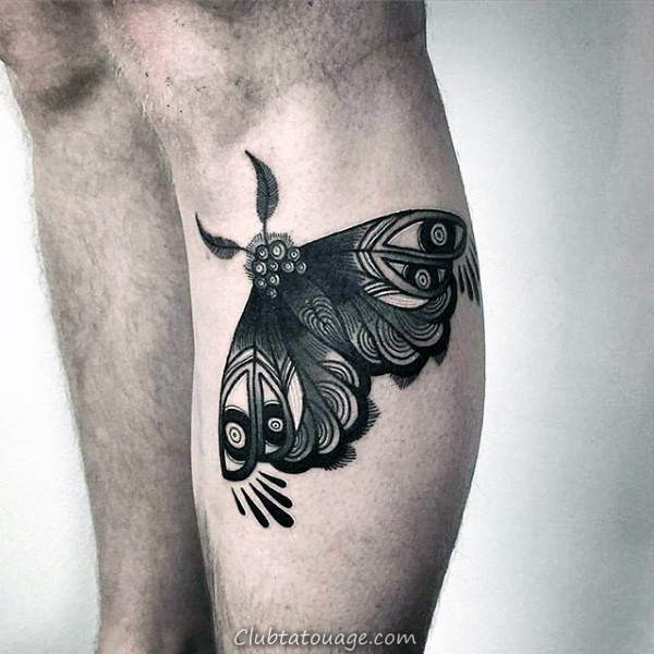 Masculine Hommes Moth Arm Tattoo Ideas