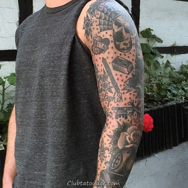 Manly traditionnel manches Tatouages Pour Guys