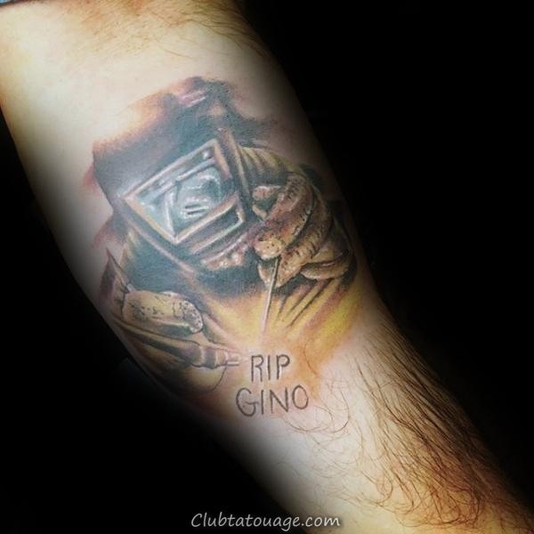 Old School Guys Soudeur tatouage sur le bras