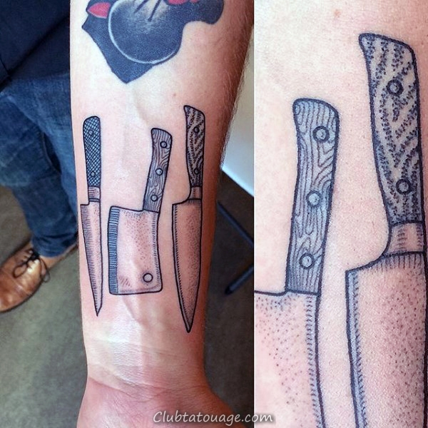 Tattoo Couteau de chef Metallic Guys
