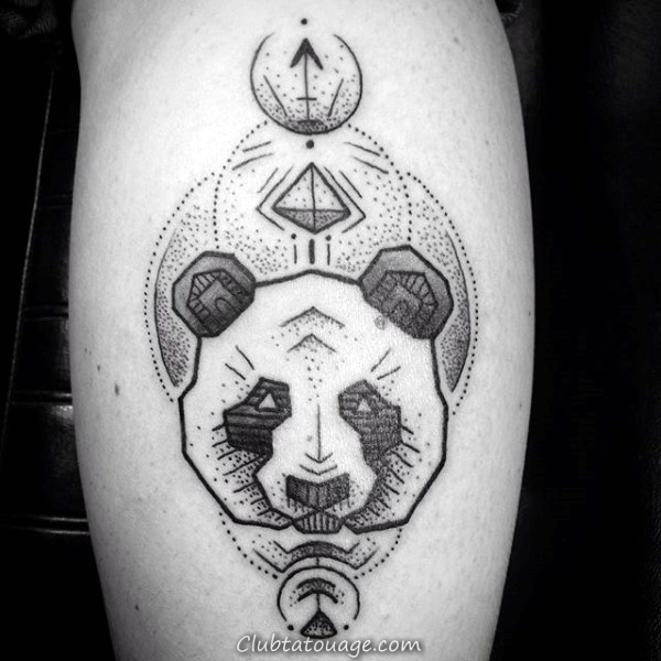 Tattoo Mens Panda Bear Head Designs