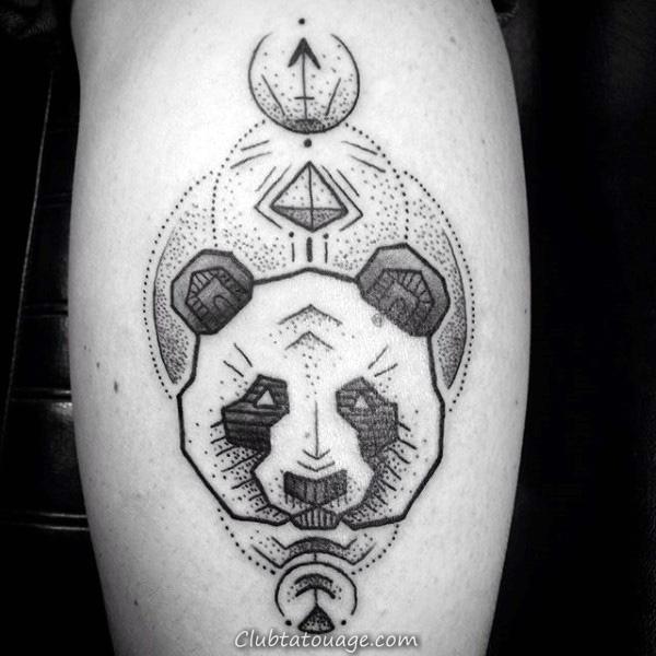 Tattoo Mens Panda Bear Head Designs
