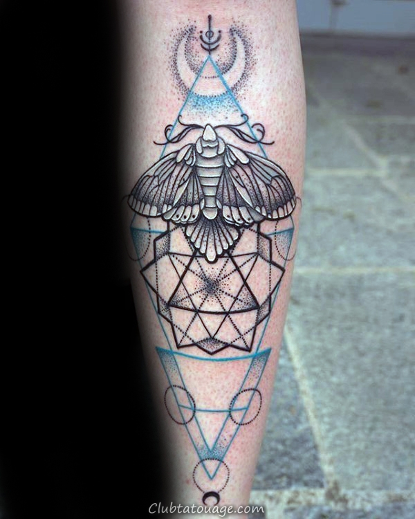 Moth Candle Tatouages ​​Hommes manches