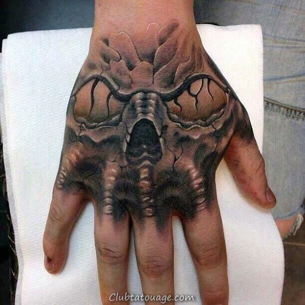 monster Skull main Tattoo For Men