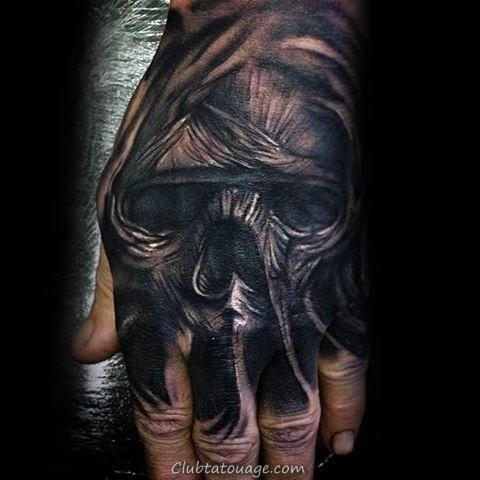 Hand Hommes Skull Tattoo Mummy