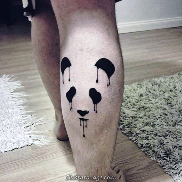 New School Hommes Panda Guerrier Arm Tattoos