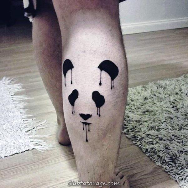 New School Hommes Panda Guerrier Arm Tattoos
