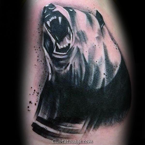 Panda Bears Mens Forearm manches Tattoo Ideas