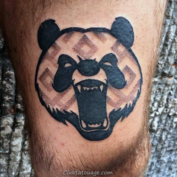 Samuari Panda Hommes main Tatouages 