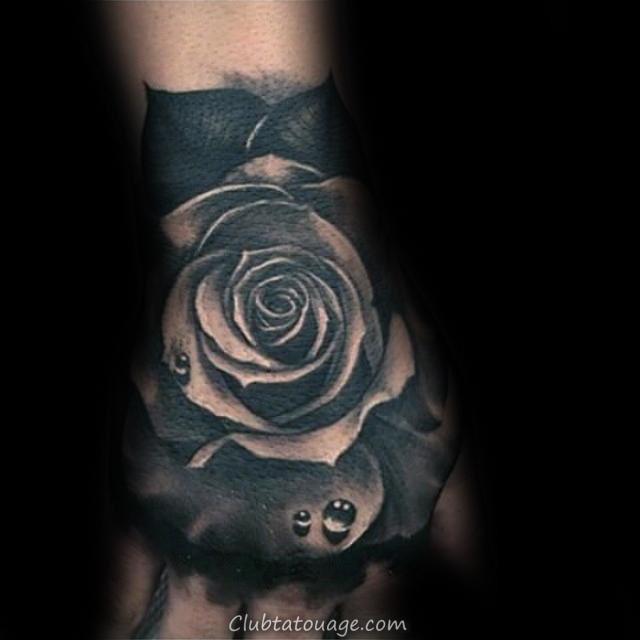 Arm Tattoo Shaded Black Rose Sur Gentleman