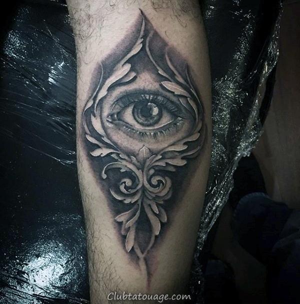 Fleur Rose Avec Filigrane Détail Hommes Idées Épaule Tattoo
