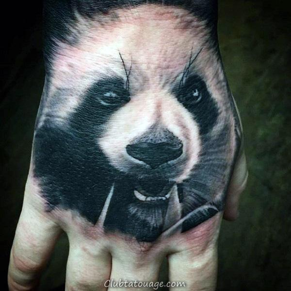 Shaded Panda Hommes Inner Forearm Tatouages