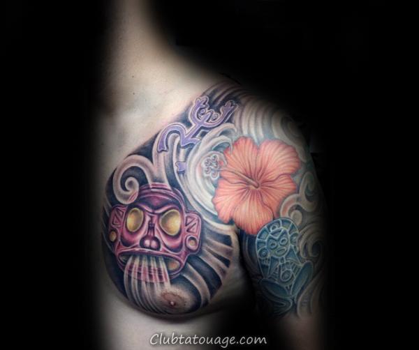 omoplate Taino encre noire Guys Sun Tattoo Ideas