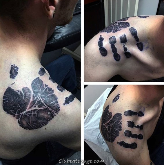 Skull Avec Chess Et Handprint Hommes Tatouages manches