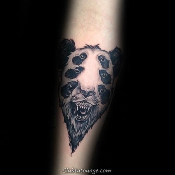 Tattoo Petit géométrique Panda Bear Mens Forearm Designs