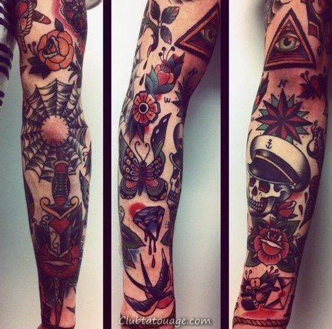 Tattoo Sleeve traditionnel Male